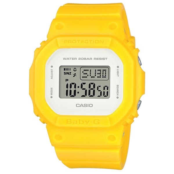 CASIO BABY-G 街頭復古風運動錶-螢光黃-BGD-560CU-9DR