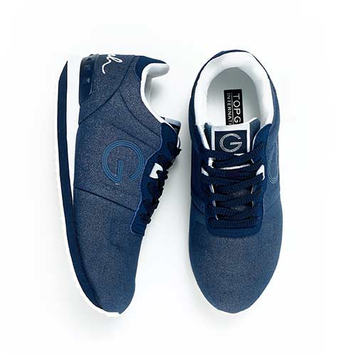 TOP GIRL-經典LOGO運動鞋-藍色