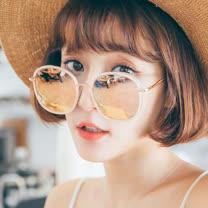 【ASLLY】微暈少女的禮服(韓星最愛復古炫彩墨鏡/太陽眼鏡)