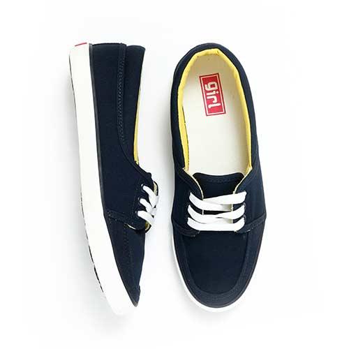 TOP GIRL-純棉帆布鞋-藍色