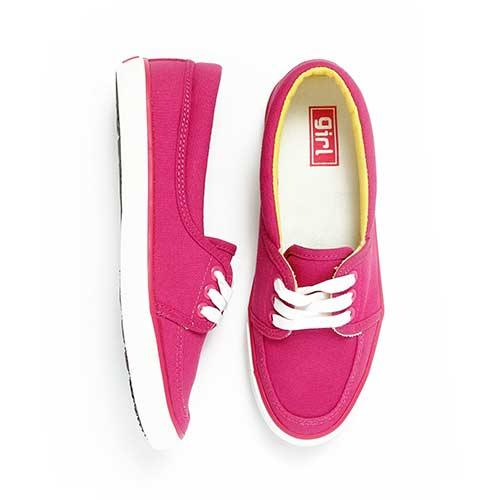 TOP GIRL-純棉帆布鞋-桃紅