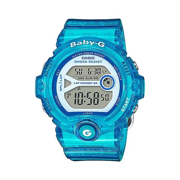 CASIO Baby-G系列 甜心馬卡龍運動休閒腕錶-水藍-BG-6903-2BDR