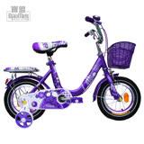 寶盟BAUMER 12吋親子鹿腳踏車(紫羅蘭)