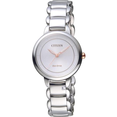 CITIZEN 星辰 L系列純粹風格Eco-Drive腕錶 EM0676-85X