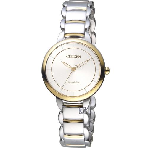 CITIZEN 星辰 L系列純粹風格Eco-Drive腕錶 EM0674-81A