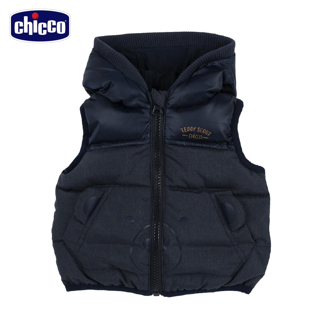 chicco-舖棉背心連帽外套-青(2歲-8歲)