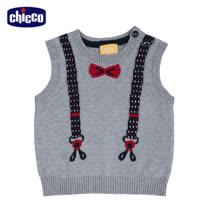 chicco-城市系列-針織假吊帶背心-灰(2歲-4歲)