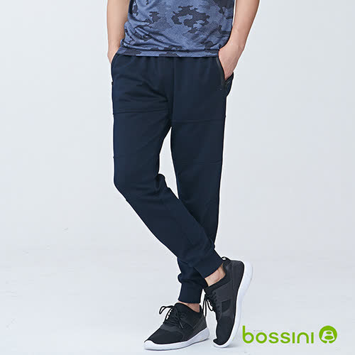 bossini男裝-休閒針織長褲03海軍藍