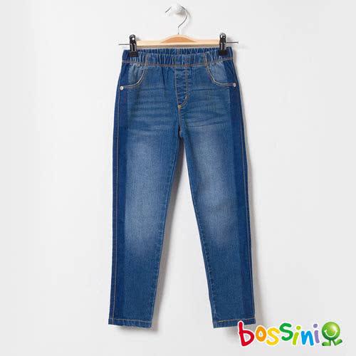 bossini女童-輕鬆牛仔窄管長褲01靛藍