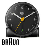 BRAUN德國百靈 經典復古版圓形鬧鐘 質感黑 BC01B