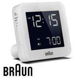 BRAUN德國百靈 數位電子旅行鬧鐘 方形質感白 BNC009WHWH