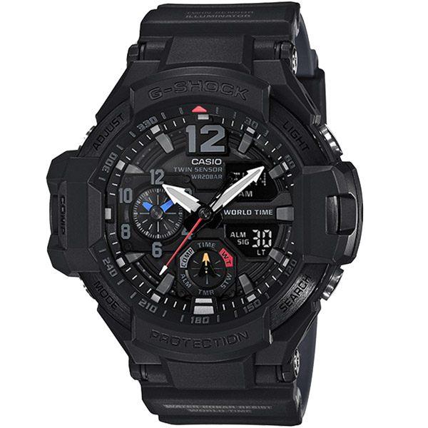 CASIO G-SHOCK系列 席捲極限探險家時尚運動錶-黑-GA-1100-1A1DR