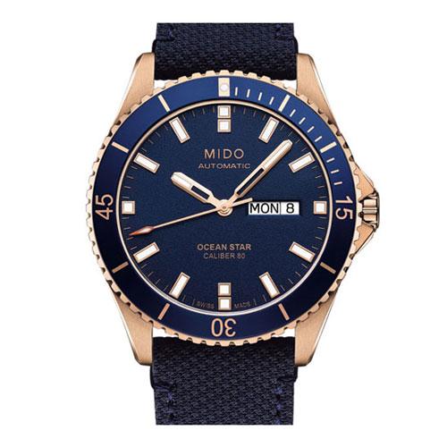 MIDO 美度 OCEAN STAR海洋之星系列時尚腕錶M0264303604100 藍