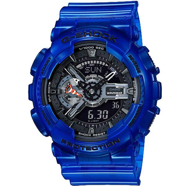 CASIO G-SHOCK系列 玩轉世界大爆炸運動錶-藍-GA-110CR-2ADR