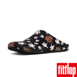 FitFlop - (女款)CHRISSIE DARK FLORAL SLIPPERS-黑色