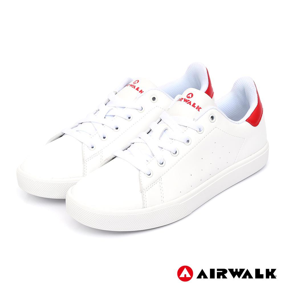 AIRWALK - 經典潮流休閒鞋-男款-白紅