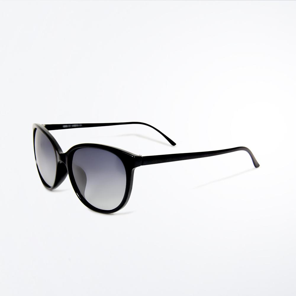 【ASLLY】黑貓的魔法陣(復古漸層純黑名媛款偏光墨鏡/太陽眼鏡)