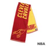 NBA-克里夫蘭騎士隊緹花運動毛巾-深紅