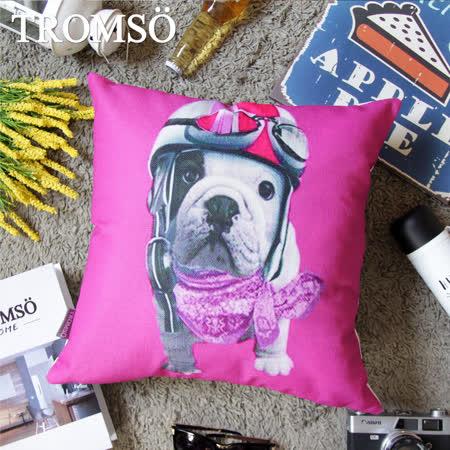 TROMSO 品味英倫棉麻抱枕