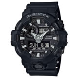 CASIO G-SHOCK 絕對強悍時尚運動錶-黑-GA-700-1BDR