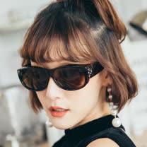【ASLLY】施華洛世奇水鑽寶麗萊UV400外掛式偏光墨鏡(車用太陽眼鏡)