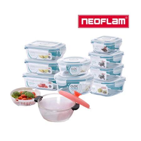 韓國NEOFLAM 耐熱玻璃保鮮盒10件組