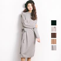 【nata】現貨-綁帶針織洋裝