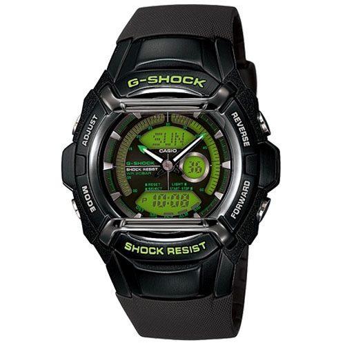 CASIO G-SHOCK 炫彩賽車風雙顯運動錶-膠帶-綠底黑框-G-550FB-1A3DR