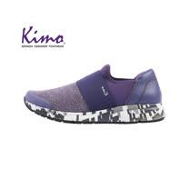 【Kimo 德國手工氣墊鞋】針織設計運動風好走平底休閒鞋(活力紫K18WF121059)