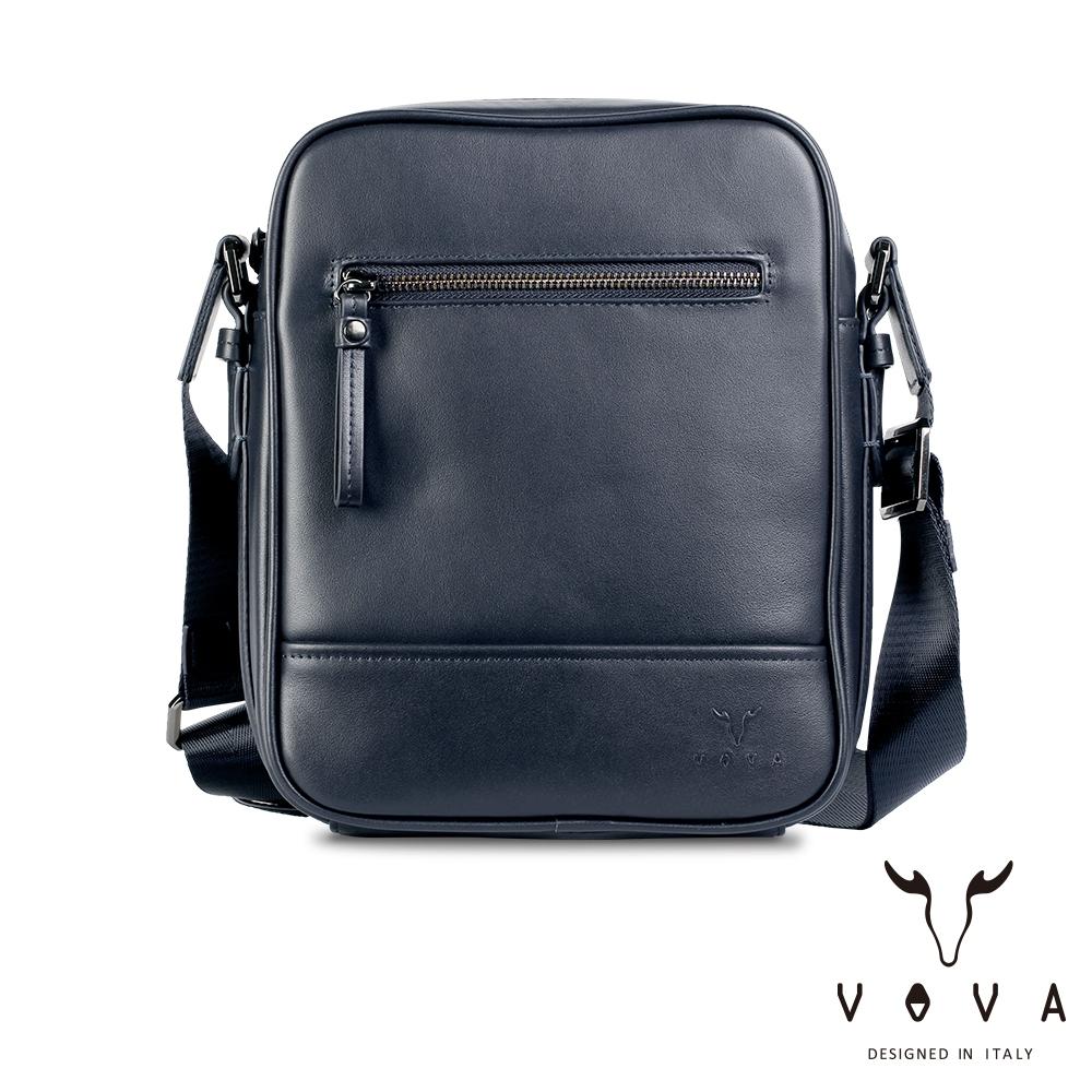 【VOVA】公爵系列職人直式斜背包(爵士藍)VA120S01BL