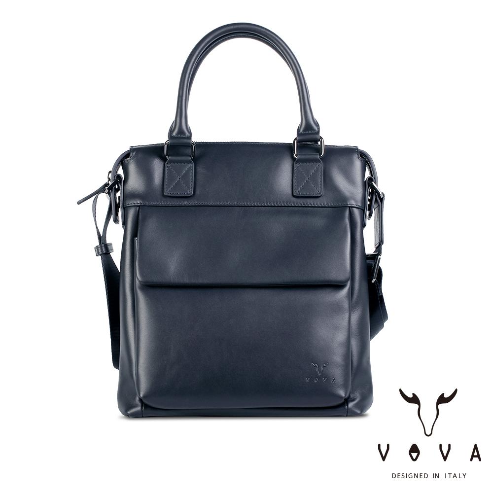 【VOVA】公爵系列職人手提/斜背兩用包(爵士藍)VA120S05BL