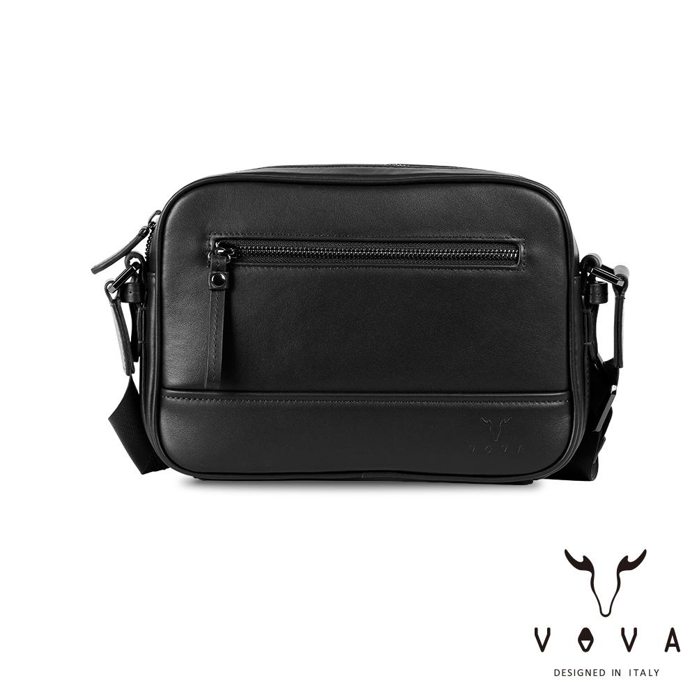 【VOVA】公爵系列職人單層斜背包(貴族黑)VA120S06BK