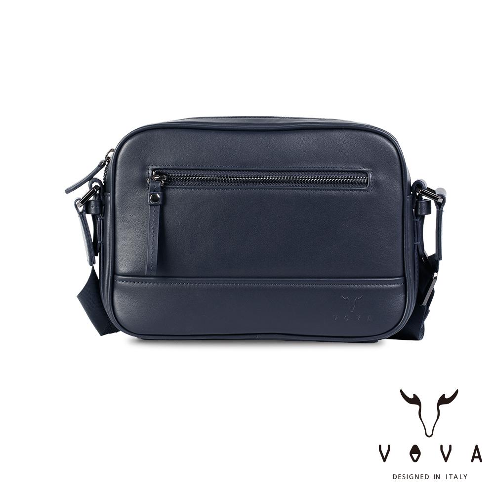 【VOVA】公爵系列職人單層斜背包(爵士藍)VA120S06BL