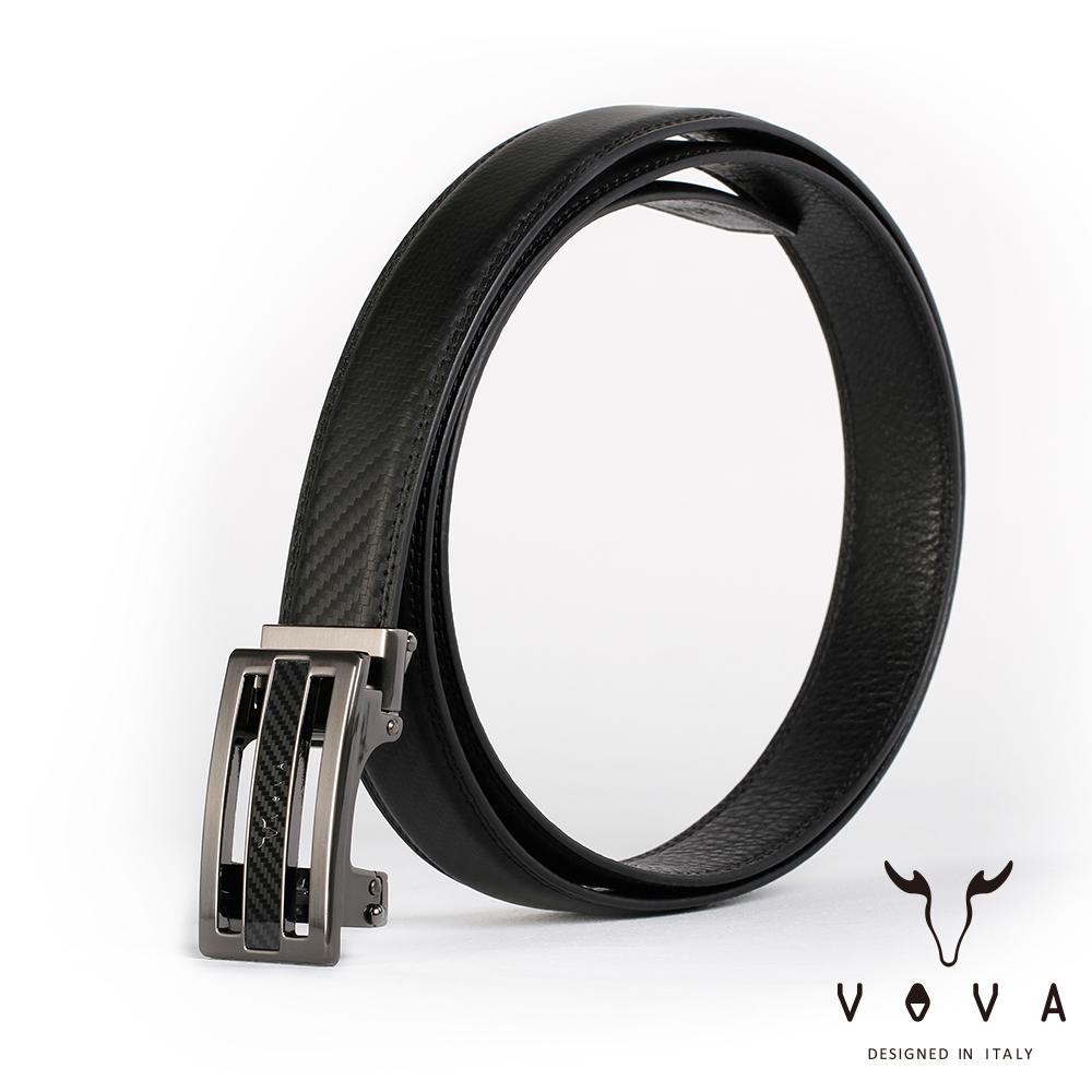 VOVA 商務紳士時尚造型自動扣皮帶(鎢鋼色)VA004-004-GU