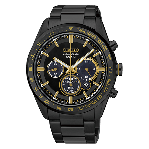 SEIKO 精工 金星繞行三眼太陽能男用腕錶/42mm/V175-0DL0K(SSC473P1)