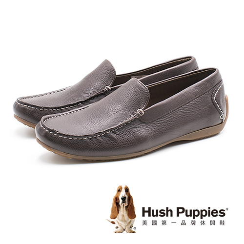 Hush Puppies SCHNAUZER SLIPON雪納瑞便鞋 男鞋-棕(另有黑)