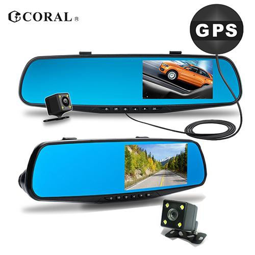 CORAL M2 GPS測速雙錄行車紀錄器(附16G記憶卡)