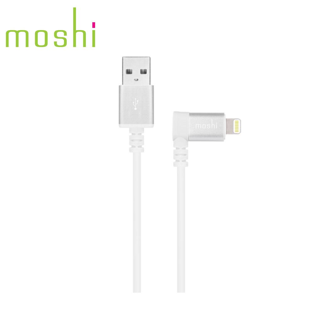 Moshi Lightning to USB 90° 彎頭傳輸線 白色 (1.5m)