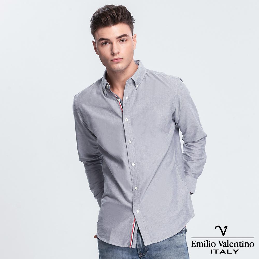 Emilio Valentino 范倫提諾經典牛津長袖襯衫-灰