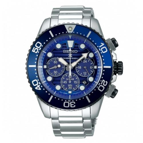 SEIKO PROSPEX 愛海洋太陽能潛水時尚腕錶/V175-0AD0A/SSC675P
