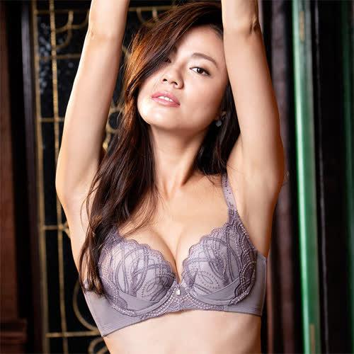摩奇X-美麗系列挺魔力 B-C 罩杯調整型內衣(粉藕紫)經典熱銷-機能集中包覆-蕾絲-爆乳