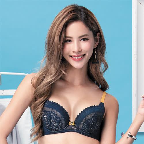 莎薇-O感覺好儷hide B-C 罩杯內衣(星空藍)舒適柔感塑型-機能型內衣-集中防副乳
