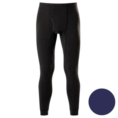 DADADO-極衣恆溫紗素面 M-LL 保暖褲(藍)