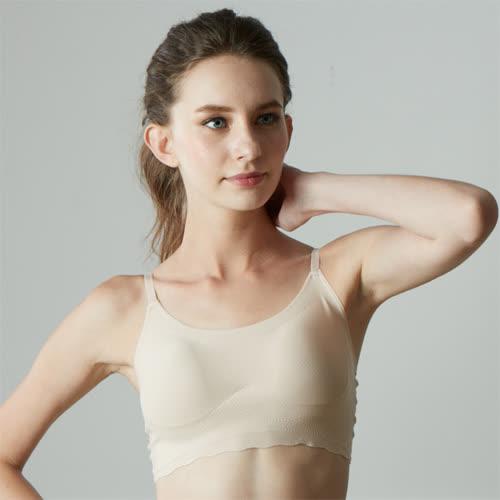 華歌爾-gococi M-LL 無鋼圈內衣(膚)套穿式無痕親膚-花生襯墊塑造美胸