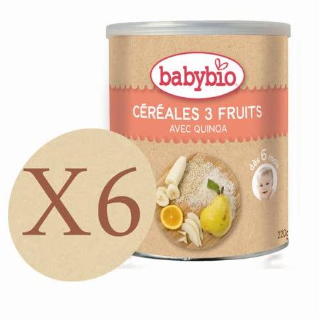 法國Babybio 有機寶寶米精-水果X6