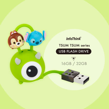 InfoThink TSUM TSUM 大眼仔吊飾隨身碟32GB