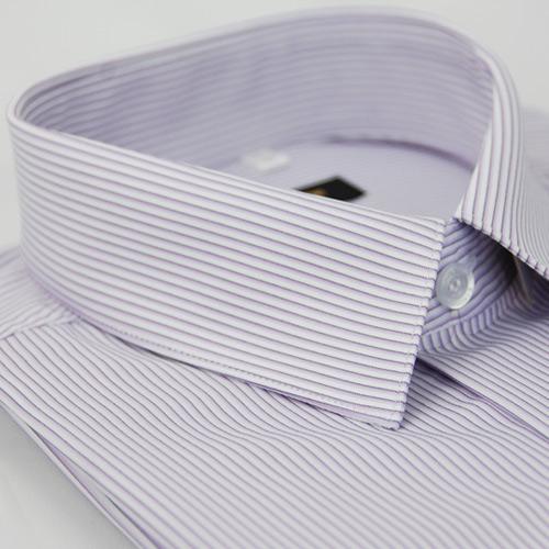 【金安德森】紫色條紋吸排窄版長袖襯衫