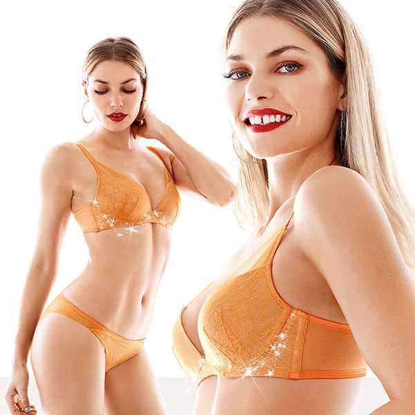 【黛安芬】輕呼吸花漾V系列B-C罩杯內衣(綻放橘)