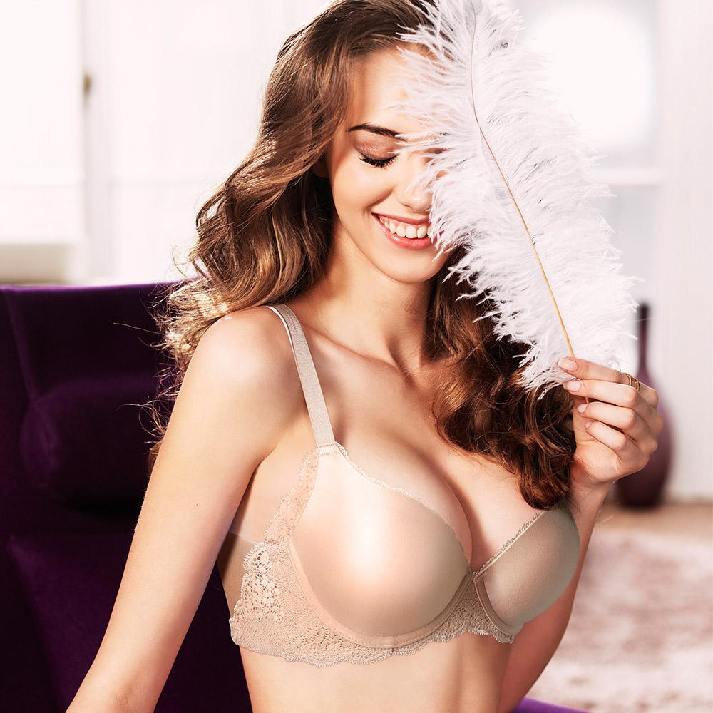 【黛安芬】超彈舒柔美背 C罩杯內衣(嫩裸肌)