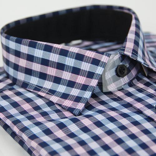 【金安德森】紫白格紋窄版長袖襯衫